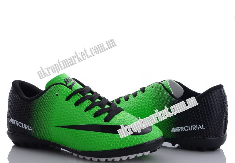 "Футбольная обувь мужские Nike Mercurial/green-black(40-44) (8 пар р.40-44) ""VS"" GB-5138"