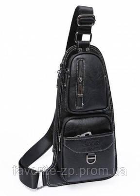 Мужская сумка через плечо Jeep 777 Bag   Черная