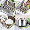 Складная сушилка решетка на раковину полка для сушки посуды и овощей, фото 2