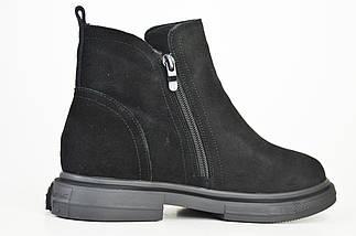 Ботинки замшевые V.I.konty 20209 черные байка 40, фото 3