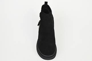 Ботинки замшевые V.I.konty 20209 черные байка 40, фото 2