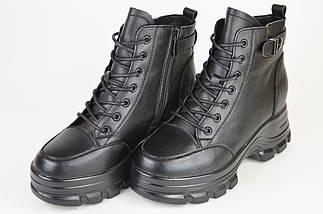 Ботинки кожанаые V.I.konty 9757 черные байка 40, фото 2