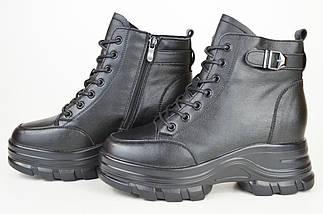 Ботинки кожанаые V.I.konty 9757 черные байка 40, фото 3