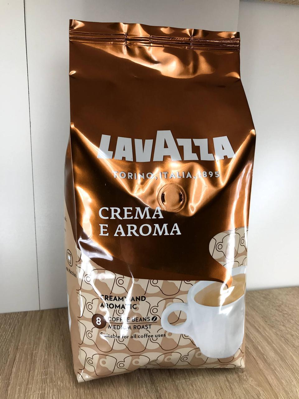 Кофе в зёрнах LavAzza Crema e Aroma фасовка 1 кг.