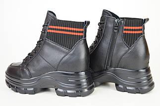 Ботинки кожанаые V.I.konty 9758 черные байка 39, фото 2