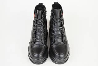 Ботинки кожанаые V.I.konty 9758 черные байка 39, фото 3