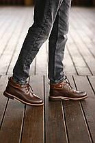 """Зимние ботинки с мехом UGG Australia Leather Boot Brown """"Коричневые"""", фото 3"""