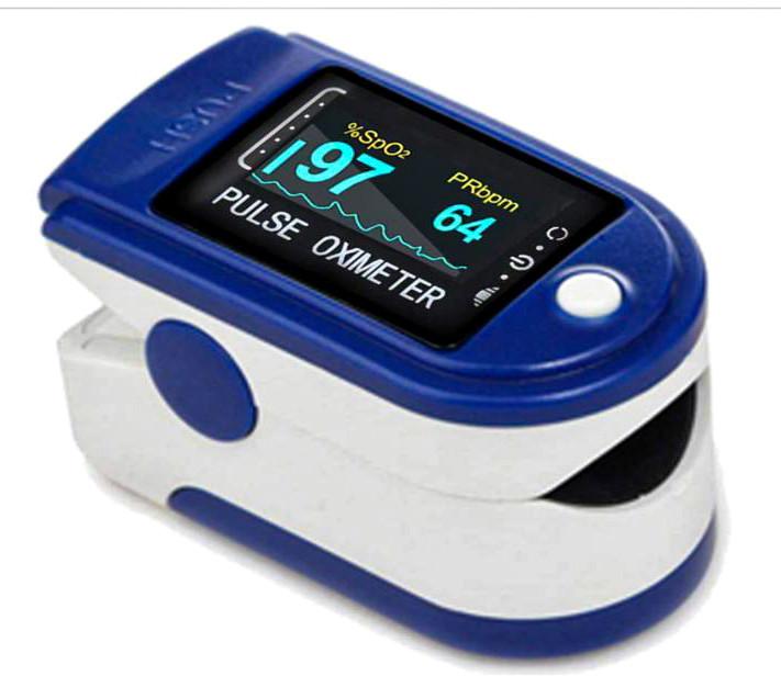 Пульсоксиметр електронный на палец с монитором кислорода в крови пульса и автоматическим отключением UKC PULSE