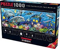Пазлы панорамные Подводный мир на 1000 элементов