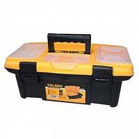 Ящик пластик Tolsen 34х18х13см, 3 органайзера (80190)