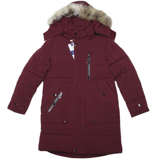 зимняя удлиненная куртка для мальчика