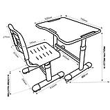 Комплект парта і стілець-трансформери FunDesk Sole II Grey-s, фото 9