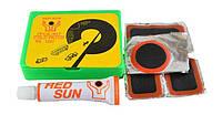 Аптечка Red Sun RS1207 для ремонта вело камер и шин, клей, латки, ремкомплект