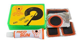 Аптечка Red Sun RS1207 для ремонту вело камер і шин, клей, латки, ремкомплект