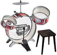 Барабанная установка со стульчиком Simba 6839858, фото 1