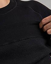 Світшот чоловічий чорний трехнить без начісування світшот, Полуприлегающий, XL, фото 2