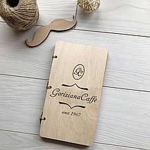 Счетница, деревянная коробка для счета для кафе, ресторанов с вашим логотипом - нужная вещь каждому, фото 3