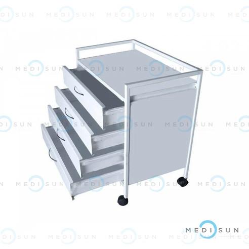Столик медицинский на колесах СТ-Т MEDNOVA, столик-тумба передвижной
