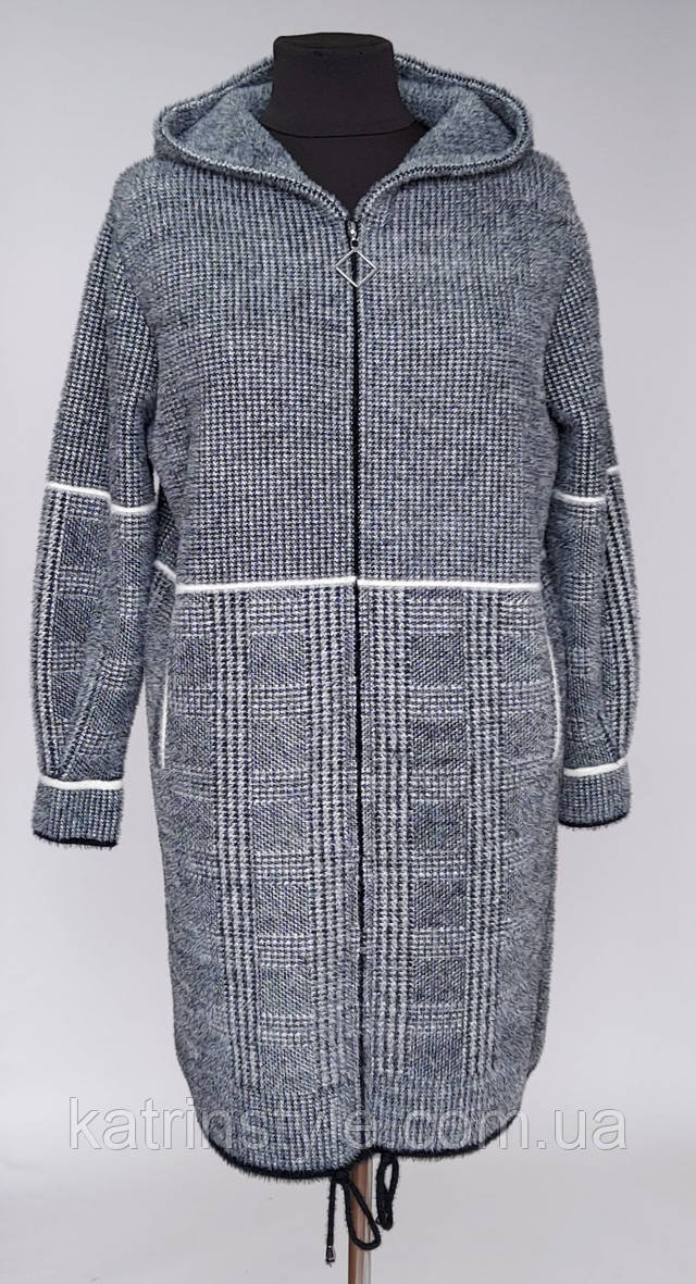 изображение меховое пальто с капюшоном на молнии