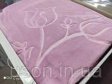 Плед акриловый ТМ Merinos размер 220*240 цвет розовый