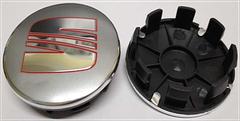 Колпачки в легкосплавные диски Seat cеребро/хром лого (54 мм)