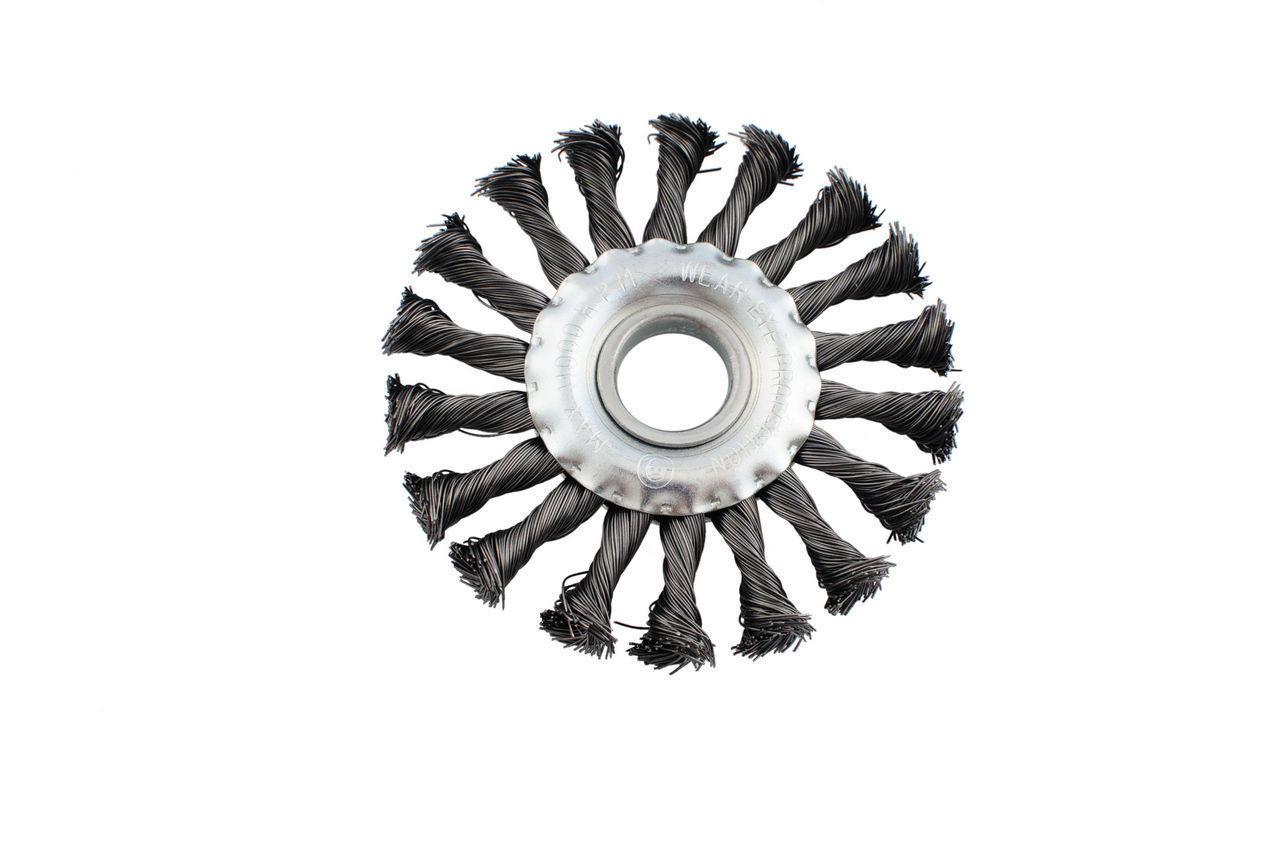 Щетка дисковая Intertool - 150 мм, плетеная 1 шт.