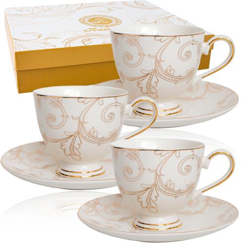 Набор чайный 12пр (чашка-200мл, блюдце-15см) Этуаль