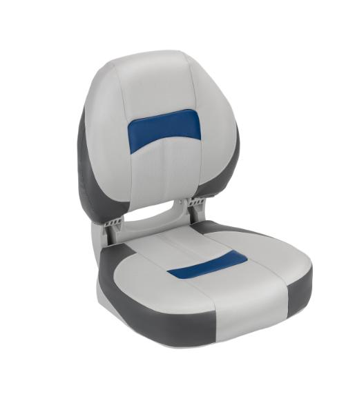 Сиденье в катер pro angler ergonomic серо угольно синиее