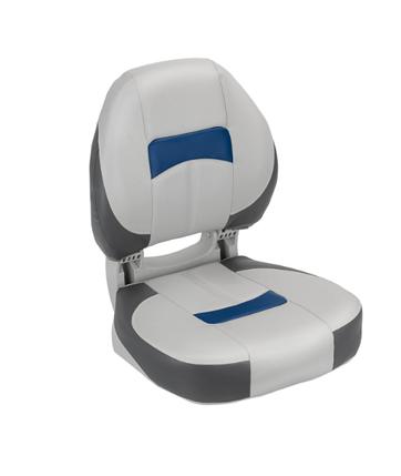 Сиденье в катер pro angler ergonomic серо угольно синиее, фото 2