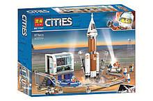 "Конструктор ""CITIES"" ""Космічна ракета та пункт керування"" 873дет 50*39,5*9см /12/"