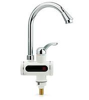 Бойлер кран с экраном №1, Электрический проточный водонагреватель, Водонагреватель электронный с таблом