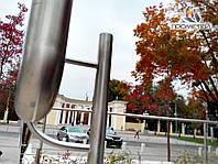 Пристенный двухуровневый поручень из нержавеющей стали для метро и подземных переходов, фото 1
