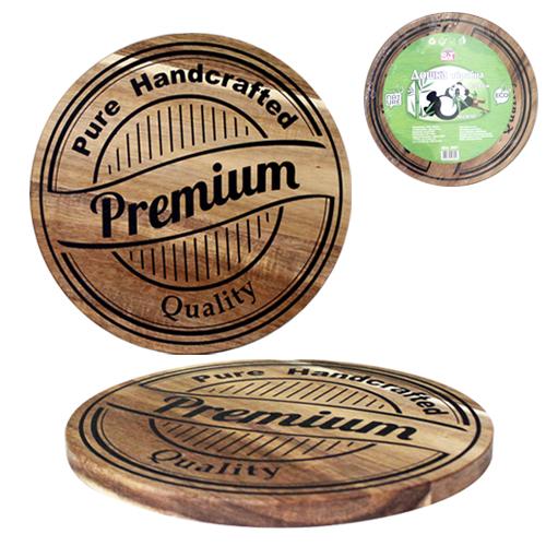 Доска разделочная Premium quality круглая (акация) 20*20*1,5см