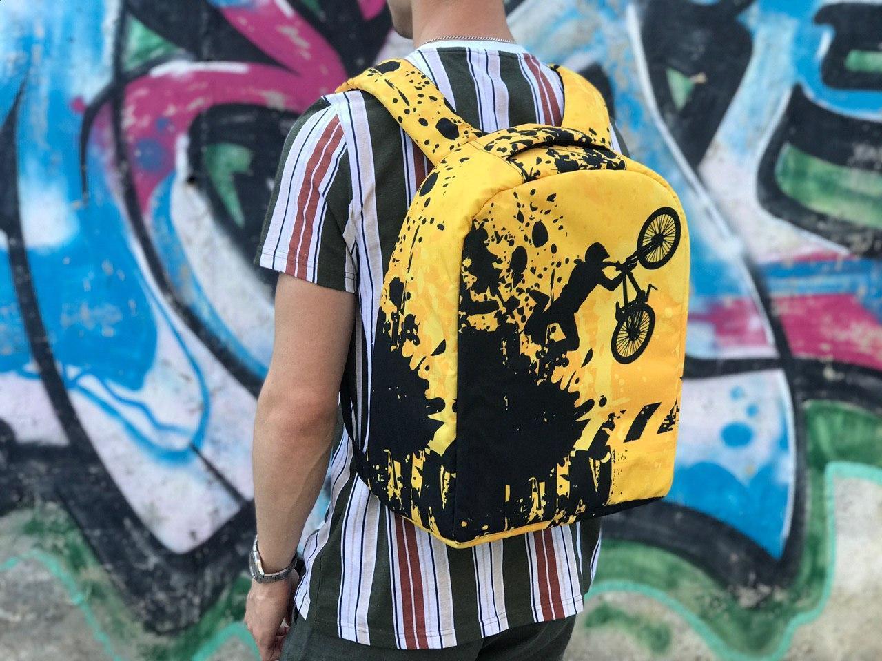 Спортивный школьный рюкзак Велосипедист