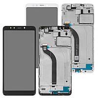 Дисплей для Xiaomi Redmi 5 (MDG1, MDI1), модуль с рамкой (экран сенсор) с передней панелью, оригинал, фото 1