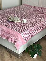 Топовое покрывало розовое, евро