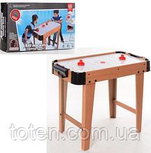 Игра Хоккей деревянный 2365 воздушный, на ножках, шкала ведения счета, 76х38х21,5 см