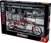 Пазлы Красный мотоцикл на 1000 элементов