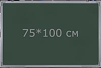 1-но поверхностная школьная доска магнитная для мела 75*100 см iBoard iB750x100G
