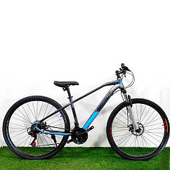 """Горный велосипед 29"""" Azimut Gemini D серый"""
