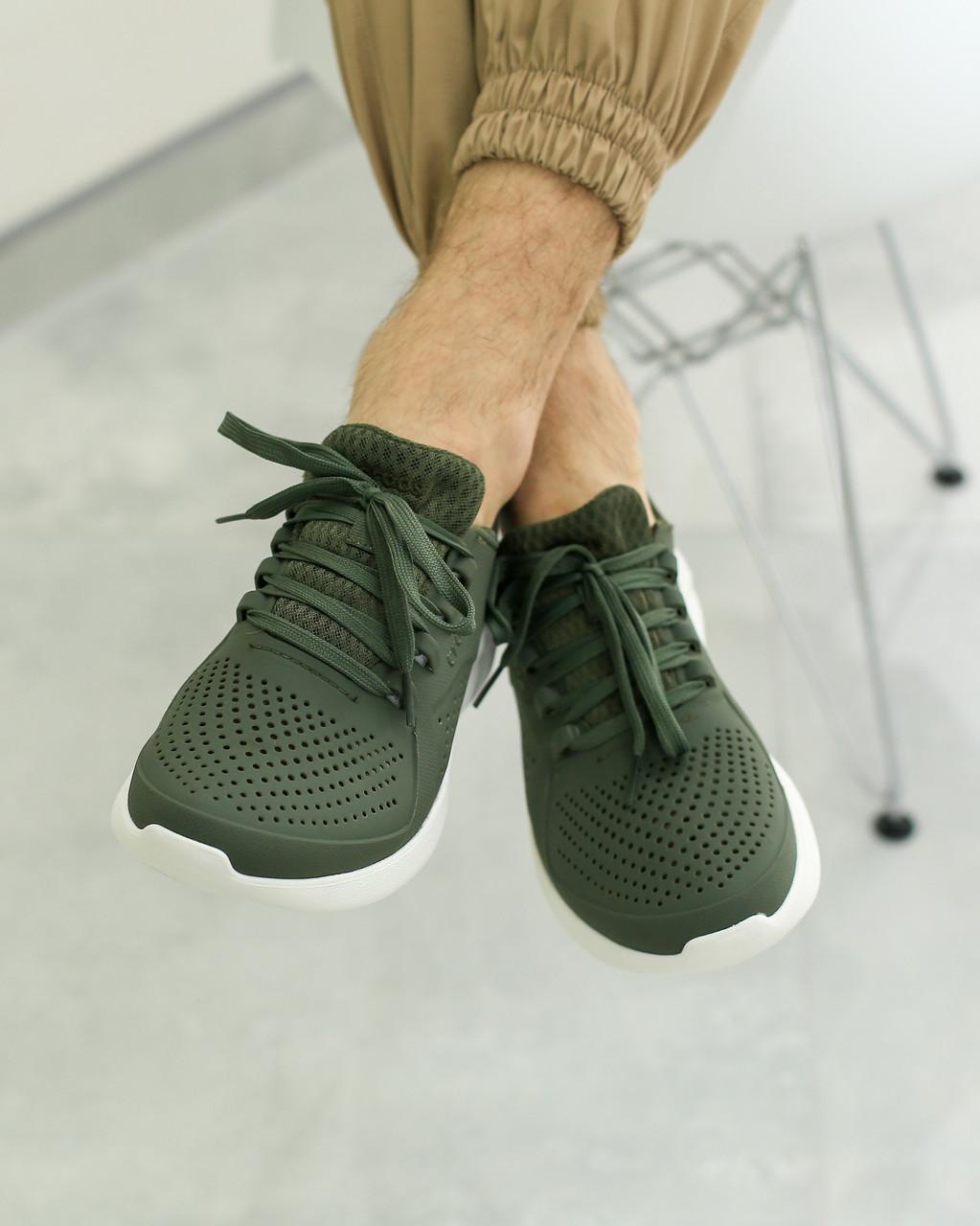 Кроссовки мужские Crocs «Lite Ride» army green
