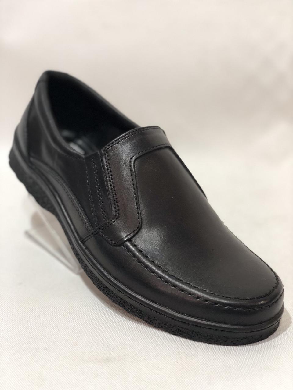 Мужские кожаные туфли BASTION (Бастион) Черные