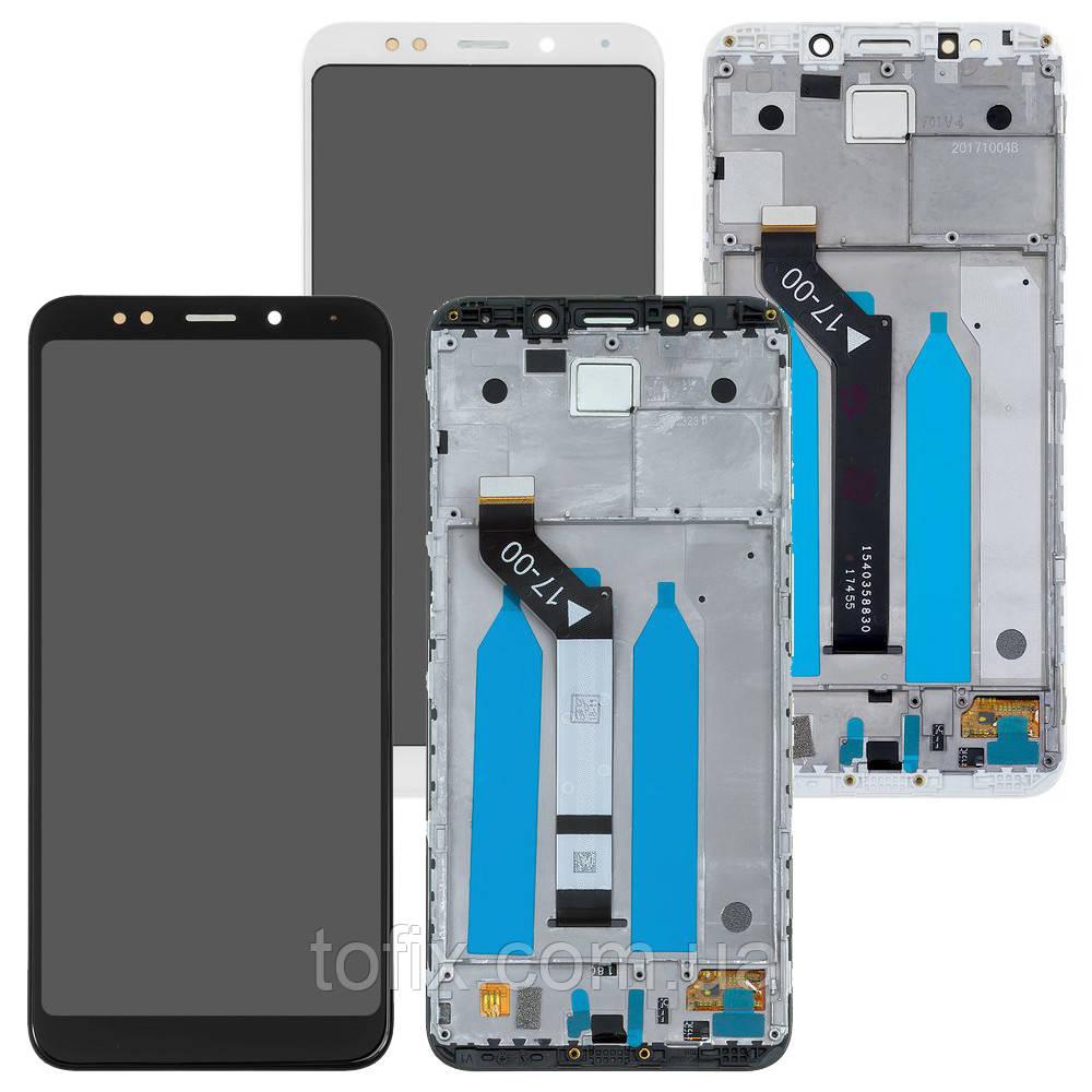 Дисплей для Xiaomi Redmi 5 Plus (MEG7, MEI7), модуль (экран и сенсор), с рамкой, оригинал