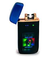 """Электрозажигалка Lighter ZGP 70 """"Боб Марли"""", аккумуляторная зажигалка с двумя молниями (usb запальничка)"""