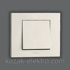 GRANO Выключатель 1 клавишный цвет белый