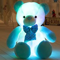 СветящийсяБело-Синий Медвежонок 50 см