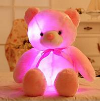 Розовый светящий Мишка