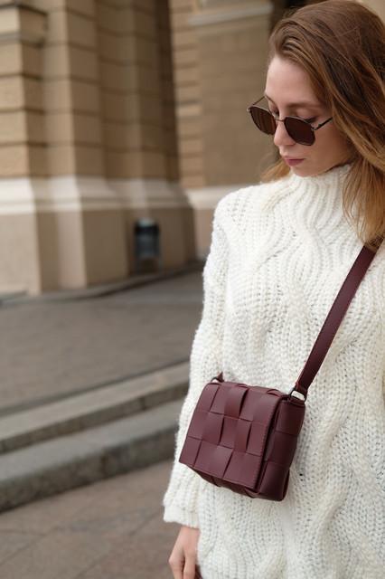Сумка Bottega плетена