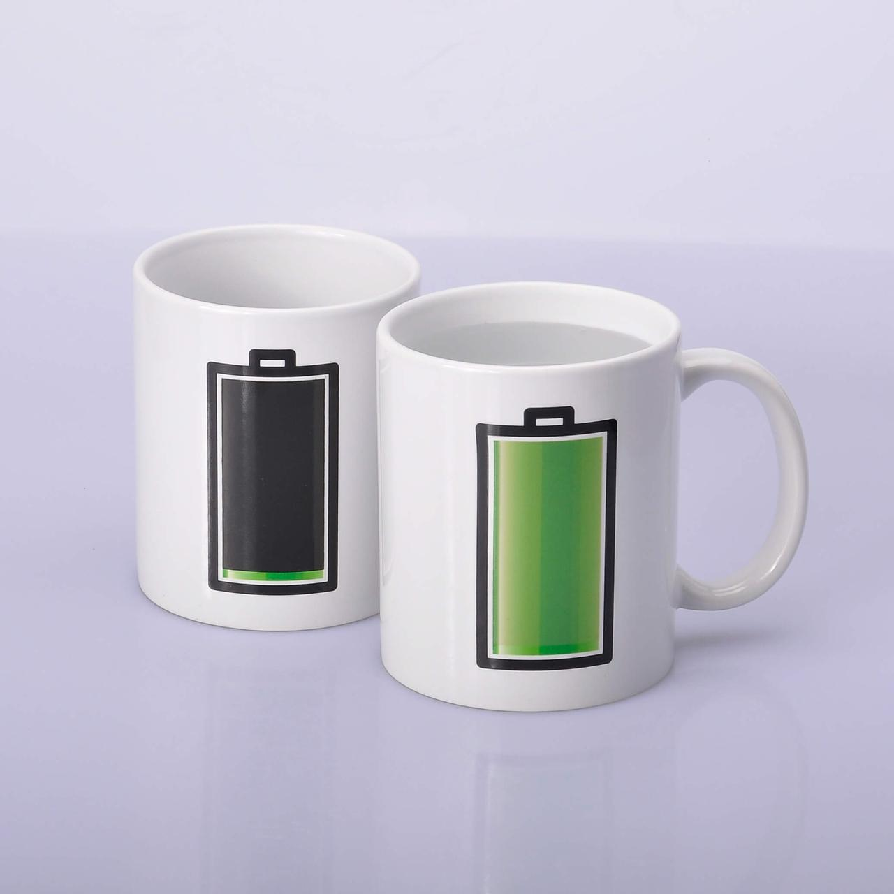 Чашка сублимационная хамелеон Батарейка 330 мл