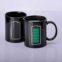Чашка хамелеон Батарейка черная 330 мл, фото 1
